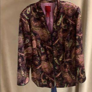 Women's beaded silk jacket